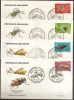 Madagascar    4  FDC  Insectes - Madagascar (1960-...)