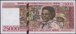 Madagascar 25000 FRANCS  TURTLE FLOWER UNC - Comores