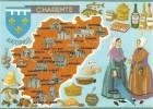 [Carte 16] - Les Départements Français Vus Par CAP-THEOJAC - La Charente - Illustration François Dague - éd. La Cigogne - Cartes Géographiques