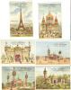 Six Chromos Maison Brateau, Paris (Thème Exposition De 1899) - Sin Clasificación