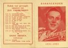 Kalender 1951 - 1952 Jan Verbraeken - Calendriers