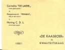 Kalender 1953 De Kaasboer - Cervelas De Laere - Calendriers