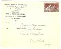 REF LVP7 - POTIER 25c SEUL SUR LETTRE PARIS / COMPIEGNE TP NON OBLITERE CACHET D'ARRIVEE AU VERSO - Marcophilie (Lettres)