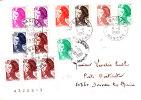 PNU 21774x4+2179x2+2180+2181+2182+2633+2234+2236 Bacilly Petit Bureau Donville Poste Restante - 1961-....