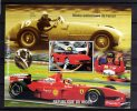 HB Minisheet  Republica Niger Año 1998  Coche Ferrari  -  Formula 1     Nueva - Níger (1960-...)