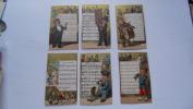 Lot 10 Chromo Dore  Chanson Partition - Trade Cards