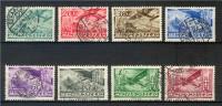 Hongrie  Poste Aérienne  1936   8 Val Oblitérées - Used Stamps