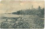 TAHITI Raiatea (Iles Sous Le Vent De Tahiti) UTUROA à Marée Basse Rivage Couvert De Débris De Noix De Coco Env. 1904 - Tahiti