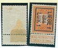 LIEGE 1  1914  LUIK 1  1ct  Pos.B  Cfr  Scan : Tab Partie Avec Charnière - Precancels