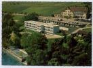 HOTEL DES PLATANES MOTEL BELLERIVE CHEZ LE BART  CARTE PUBLICITAIRE  VUE AERIENNE - Hotels & Restaurants