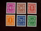 TANZANIA 1978 POSTAGE DUES FULL SET SIX VALUES In MNH. - Tanzania (1964-...)