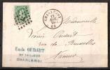 30 S/lettre De Charleroy Pour Namur. - 1869-1883 Leopold II