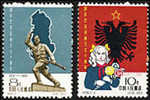 China 1962 C96 Independence Of Albania Stamps Map National Flag Soldier Kid - 1949 - ... Volksrepubliek