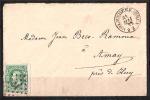 30 S/lettre De Molenbeek (Bruxelles) Pour Amay. - 1869-1883 Leopold II