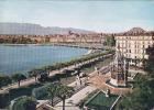 Suisse-Geneve,  Monument Brunswick, Hôtel De La Paix Et Bus+camion, Circule Oui - Buses & Coaches