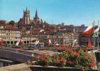 Suisse-Geneve,  Le Grand Pont Et La Cathédrale Et Bus, Circule Oui 1976 - Buses & Coaches