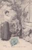 18296 Série Temps Des Cerises. Femme Puits. 2 Magnifiques Dirait Rubis