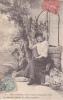 18300 Série Temps Des Cerises. Femme Puits. 6 Resterions Assis Ombre Grand Arbre
