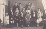 18303 Carte Photo Groupe Jeunes Gens Couples ?? Photographie Cherret Pithivier