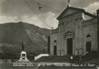PALOMBARA SABINA. FACCIATA DELLA CHIESA DI SAN BIAGIO. CARTOLINA DEL 1953 - Altre Città