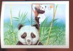 MINT NEVER HINGED SOUVENIR SHEET OF ANIMALS  ( BHUTAN   1145  PANDA  HONG KONG