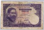 BILLETE DE 25 PESETAS DE 1954 - USADO SIN SERIE - [ 3] 1936-1975: Franco