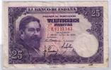 BILLETE DE 25 PESETAS DE 1954 - USADO BONITO - [ 3] 1936-1975 : Regency Of Franco