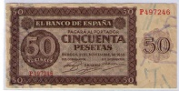BILLETE DE 50 PESETAS DE 1936 - MUY BONITO - [ 3] 1936-1975: Regime Van Franco