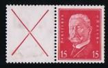 Reichpräsidenten.  X/15   Mi Nr W30 ** MNH - Zusammendrucke