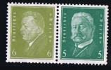 Reichpräsidenten.   6+5     Mi Nr W28  **MNH - Zusammendrucke