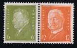 Reichpräsidenten.    6 + 12   Mi Nr W29  * MH - Zusammendrucke