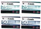 GERMANIA (GERMANY) - T D1 (RECHARGE) - XTRA CASH: LOT OF 4 DIFFERENT     - USED ° - RIF. 5842 - GSM, Cartes Prepayées & Recharges