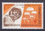 Democratic Republic Of Congo 1970 Mi. 236     6 Fr Unabhängigkeit Independence Paratroopers MNH** - Dem. Republik Kongo (1964-71)