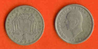 GREECE 1954-65 Coin 1 Drachma Copper-nickel KM81 C409 - Griekenland