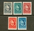 NEDERLAND 1945 MNH Stamp(s) Child Welfare 444-448 #014 - Period 1891-1948 (Wilhelmina)