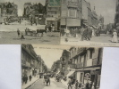 3 Cpa Sur Berck, Arrivée à La Plage, Rue De L'impératrice, La Rue Carnot. - Berck
