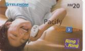 MALAYSIA - Pacify, Telecom Malaysia Prepaid Card RM20, Exp.date 31/03/05, Used
