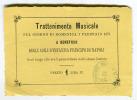 FOGLIETTO INTRATTENIMENTO MUSICALE ANNO 1874 A BENEFICIO ASILI INFANZIA PRINCIPE DI PIEMONTE VERONA - Collections