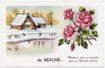 CPSM - PF - De Beaune - Meilleurs Vœux Et Souhaits Pour La Nouvelle Année - Beaune