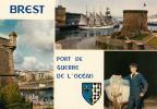 Dép. 29 - BREST. - Port De Guerre De L'Océan- Multivue. Ed. Jos Le Doaré. N° MX 1416 - Brest