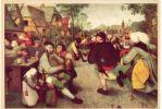 (AKE 44) Esperanto Card About The Painting By Pieter Brueghel ´Peasant´s Dance´ - Esperanto