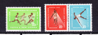 PAPUA NEW GUINEA    1962   Sports  , Y&T  #   50/52    Cv 6.00 E  , ** M N H  , V V F - Papua Nuova Guinea