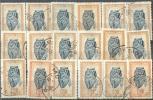 _Fh814: 18 Zegels: Maskers 1947 ...om Verder Uit Te Zoeken.... - Congo Belge