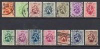Belgique Oblitéré N°  276 à 288A - Used Stamps