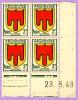 COIN DATE ARMOIRIE AUVERGNE 23 6 49 - 1940-1949