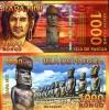 EASTER ISLAND 1000 1,000 RONGO 2011 POLYMER UNC - Banconote