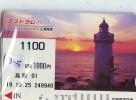 Télécarte Japon PHARE (335) Telefonkarte Japan LEUCHTTURM * VUURTOREN LIGHTHOUSE LEUCHTTURM FARO FAROL Phonecard - Phares