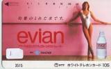 Télécarte Japon Boisson Eau Minérale (1) EVIAN * Water * France Related Japan Phonecard * - Alimentation