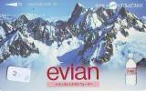 Télécarte Japon Boisson Eau Minérale (2) EVIAN * Water * France Related Japan Phonecard * - Levensmiddelen
