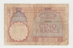 Morocco 5 Francs 14-11- 1941 VG P 23Ab 23A B - Morocco